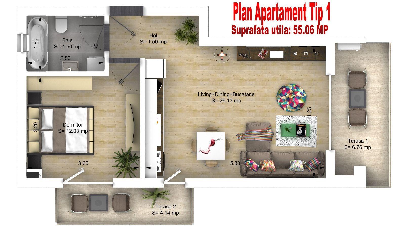 Plan Apartament Tip 1