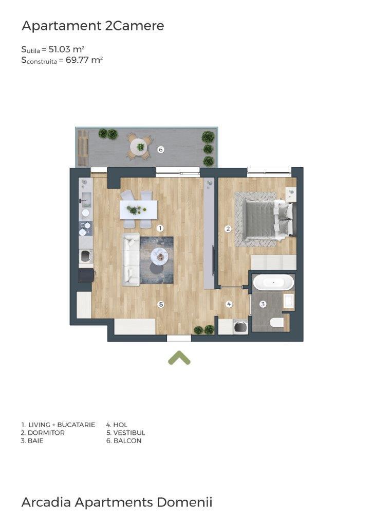 Sector 1, Bucuresti, 1 Bedroom Bedrooms, 2 Rooms Rooms,1 BathroomBathrooms,Apartament,De vanzare,Sector 1, Bucuresti,1145